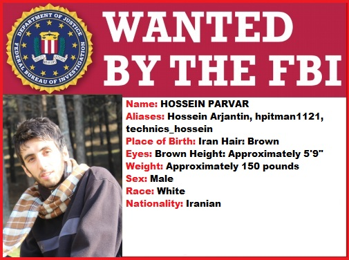 Most Wanted by FBI- Hossein Parvar
